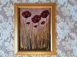 Картины, постеры, гобелены, панно - Картина с цветами Маки (интерьерная картина) акрил, 0