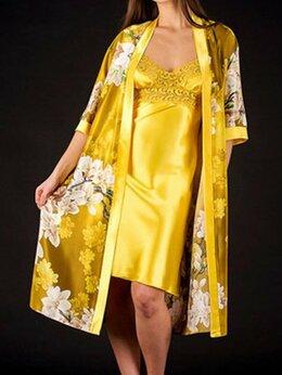 Домашняя одежда - Пеньюар с сорочкой в трендовом цвете, 0