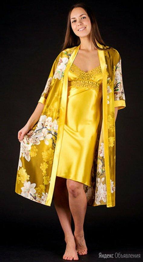Пеньюар с сорочкой в трендовом цвете по цене 1380₽ - Домашняя одежда, фото 0