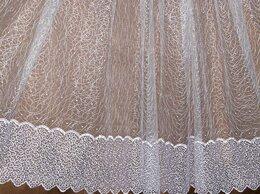 Шторы - Тюль сетка с вышивкой, 0