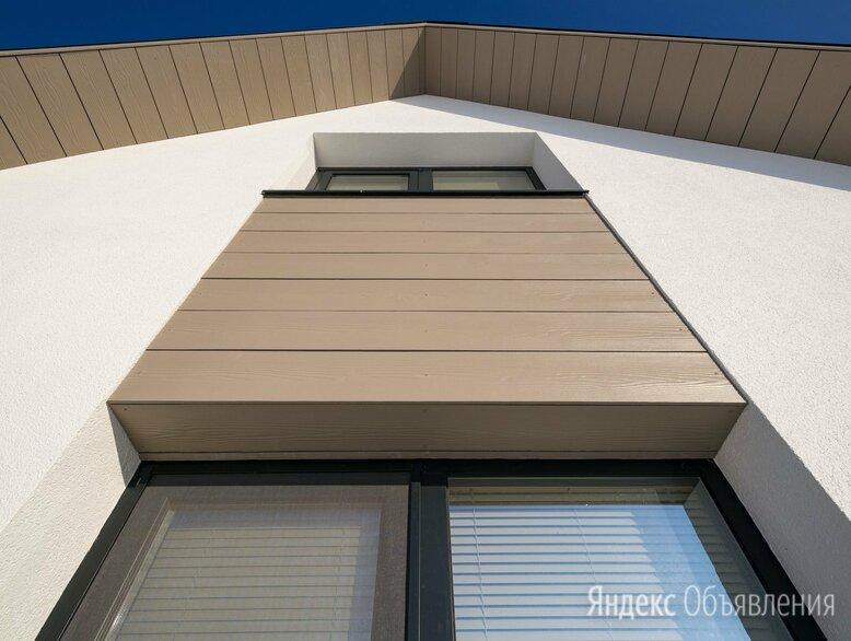 Фиброцементный сайдинг Кедрал цвет Белая глина по цене 1154₽ - Сайдинг, фото 0