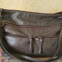 Сумки - Женская сумка серого цвета, 0