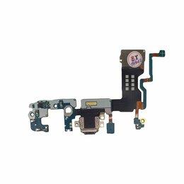 Шлейфы - Шлейф Samsung Galaxy S9 Plus (SM-G965F) с разъемом зарядки и микрофоном, 0