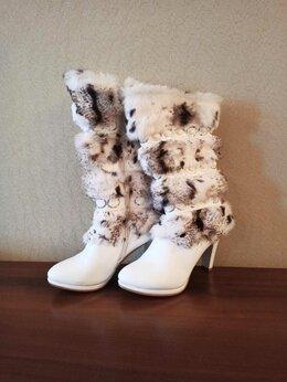 Сапоги - Зимние сапоги с натуральным мехом 38 размер, 0