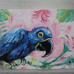 Картины, постеры, гобелены, панно - Картина маслом Тропический попугай , 0