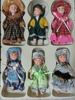 Куклы и пупсы - Фарфоровые куклы 13 см набор Pretty girls, 0