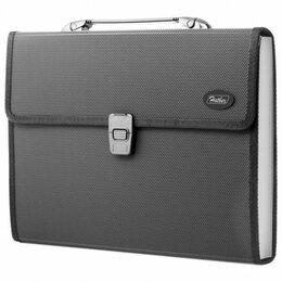 Рюкзаки, ранцы, сумки - Портфель пласт. 13 отд. Hatber, черный, 0