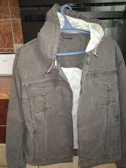Куртки - Джинсовая куртка Finn Flare с капюшоном  новая, 0