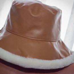 Головные уборы - Кожаная шляпка новая рр 58+-, 0