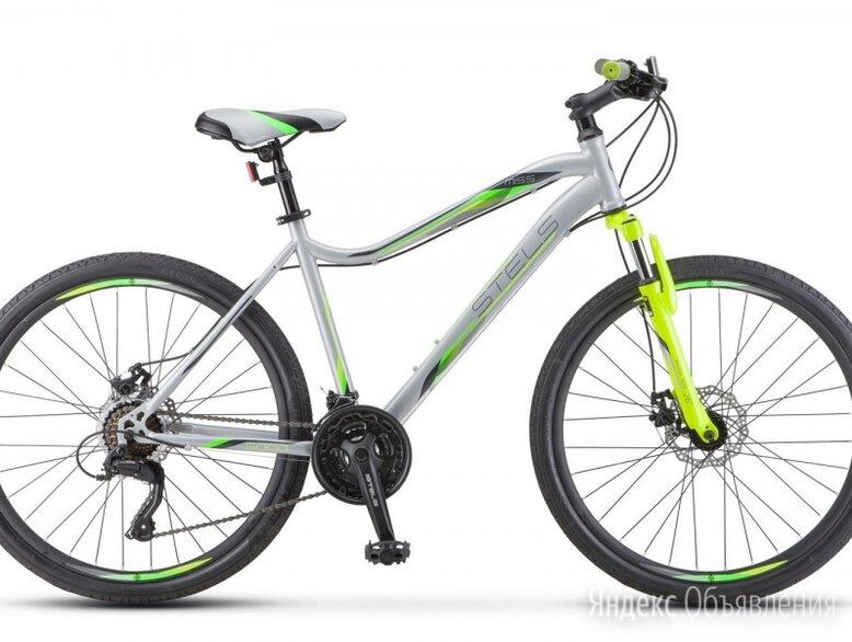 """Горный (MTB) велосипед STELS Miss 5000 MD 26 K010 серебристый/салатовый 16"""" рама по цене 20670₽ - Велосипеды, фото 0"""