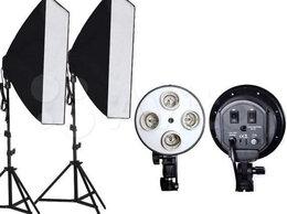 Осветительное оборудование - Комплект освещения 2 стойки и 2 софтбокса 4xE27, 0
