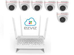 Камеры видеонаблюдения - Комплект на 6камер ezviz С4W +Vault Plus, 0