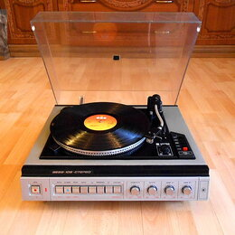 Проигрыватели виниловых дисков - Проигрыватель Вега 109 стерео+ новая головка АТ-91. , 0