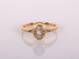Кольца и перстни - Золотое кольцо с бриллиантами 583, 0