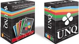 Настольные игры - Карточная игра Unique (Uno с картами 100% пластик), 0