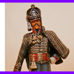 Сборные модели - 1/16 модель солдат фигурка Прусский офицер Лейбгусар Черный гусар Верлинден 1315, 0