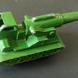 Модели - Модель орудия на гусеничном тягаче, игрушка СССР , 0