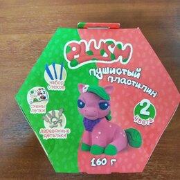 """Лепка - Пушистый пластилин """"PLUSH"""" розовый+зеленый, 0"""