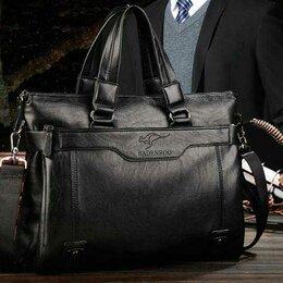 Сумки - Новая мужская сумка портфель натуральная кожа, 0