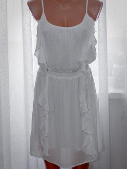 Платья - Белый шифоновый сарафан, 0