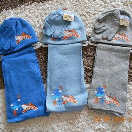 Шарфы - Новый комплект шапка, шарф, перчатки, 0