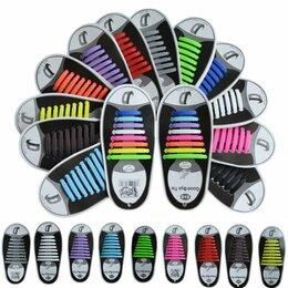 Рукоделие, поделки и товары для них - Разн. цвет шнурки плоские силиконовые 00315, 0