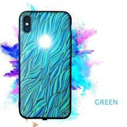 Чехлы - чехол с горящим логотипом для iphone x + стекло, 0