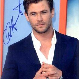 Вещи знаменитостей и автографы - Оригинальный Автограф Chris Hemsworth ( Крис Хемсворт) , 0