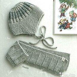 Головные уборы - Детская шапка и шарф, 0