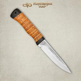Ножи и мультитулы - Нож Пескарь Златоуст из стали 95х18 береста, 0