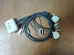 Проводные роутеры и коммутаторы - Переключатель KVM TRENDnet TK-214i (2 порта) встро, 0