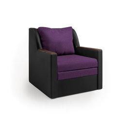 Кресла - Кресло-кровать «Соло» экокожа черная и…, 0