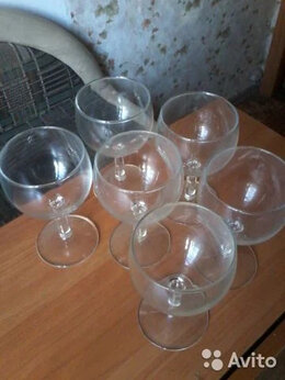 Бокалы и стаканы - Бокал для вина стеклянный 6штук, высота 13,5см., 0