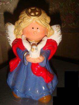 Новогодние фигурки и сувениры - Статуэтка Ангел с голубем винтаж 80х годов фарфор, 0