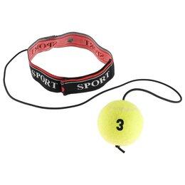 Эспандеры и кистевые тренажеры - Эспандер-тренажёр, боевой мяч «TIGER 2-точный удар» реакция, координация, 88-91, 0
