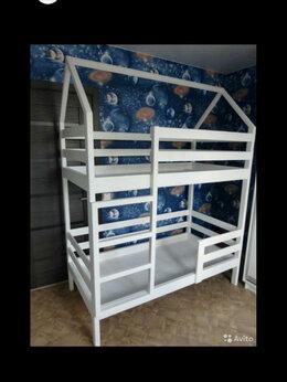 Кроватки - Детская двухярусная кровать домик, 0
