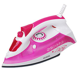 Утюги - Утюг Gelberk GL-707 розовый, 0