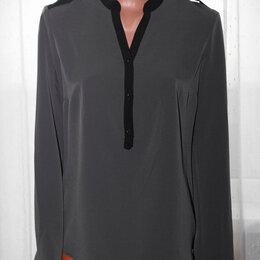 Блузки и кофточки - Блузка серая с черной отделкой рр 44+-, 0
