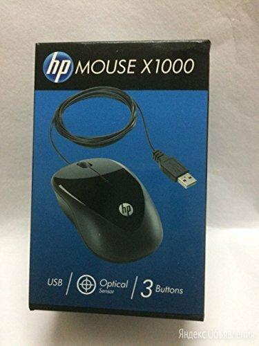 Компактная мышь проводная HP X1000 черный по цене 300₽ - Мыши, фото 0