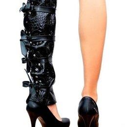 Колготки и носки - Высокие манжеты на шнуровке, 0