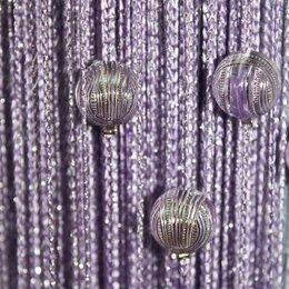Шторы - Нитяные шторы с шарами, 0