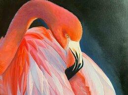 """Картины, постеры, гобелены, панно - Картина """"Розовый фламинго"""", 0"""