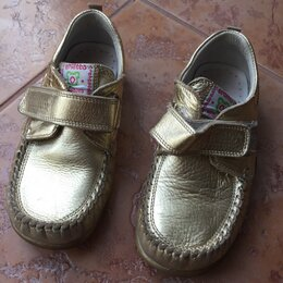 Туфли и мокасины - Мокасины для девочки, р30, нат кожа , 0