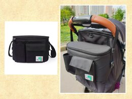 Аксессуары для колясок и автокресел - Новая сумка #5 с крышкой на коляску (черная с…, 0