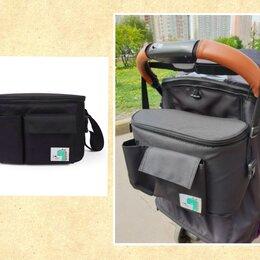 Аксессуары для колясок и автокресел - Новая сумка #5 с крышкой на коляску (черная с дино), 0