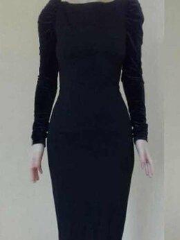 Платья - Платье футляр новое 46 черное миди ткань плотная…, 0