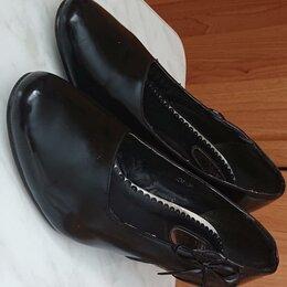Туфли - Туфли женские черные лакированные, 0