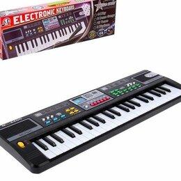 Клавишные инструменты - Синтезатор «Модная музыка» с микрофоном, 44 клавиши, 0