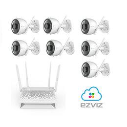 Камеры видеонаблюдения - Комплект на 7камер ezviz С3N +Vault Plus, 0