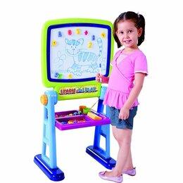 Развивающие игрушки - Доска Мольберт для рисования PlayGo двухсторонняя, 0